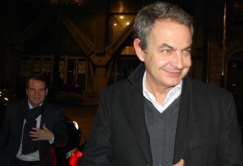 El ex presidente Zapatero, este miércoles en Vigo/Foto:vigoalminuto.com