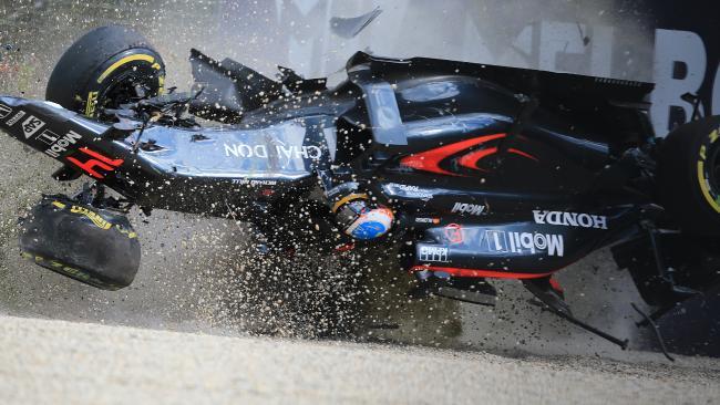 Accidente de Fernando Alonso en Australia/Foto:www.theaustralian.com.au