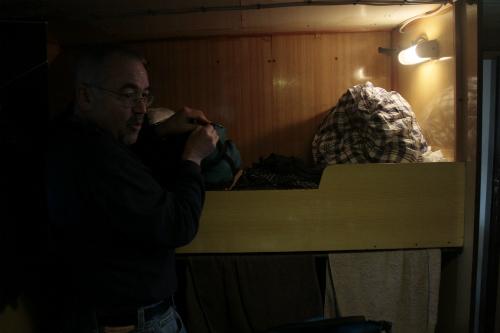 Uno de los camarotes del barco/Foto:Felipe Carnotto