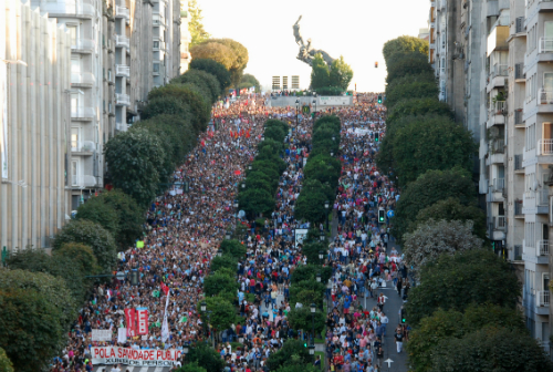 Manifestación en Vigo o pasado 3 de setembro/Foto:vigoalminuto