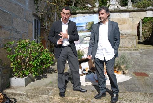 O responsable da Cooperativa do Requeixo e o alcalde de As Neves, Xosé Rodríguez Méndez, na presentación da Festa/Foto:vigoalminuto.com