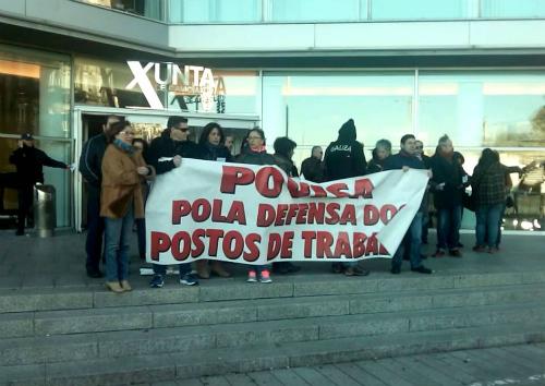 Protesta de traballadores de Povisa (ARQUIVO)/Foto:vigoalminuto.com