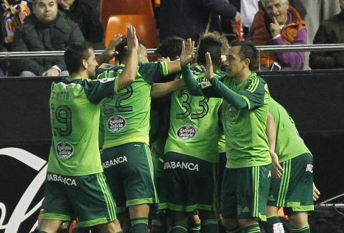 Valencia- Celta/Foto:Liga de Fútbol Profesional