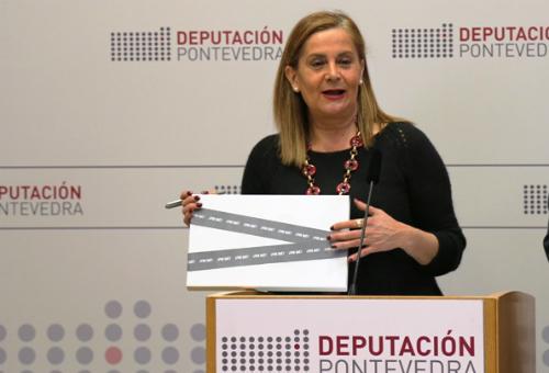 A presidenta da Deputación de Pontevedra, Carmela Silva