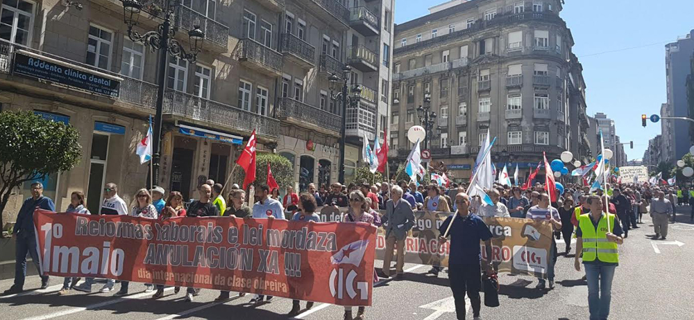 Manifestación de la CIG