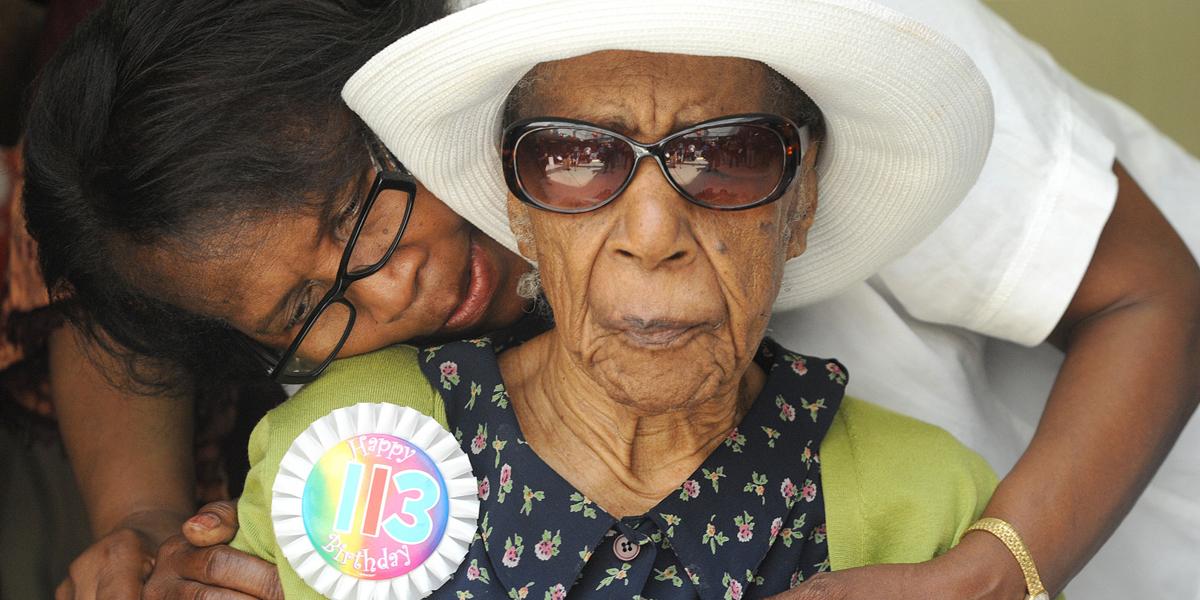 Susannah Mushatt Jones durante su 113 cumpleaños