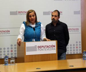 A presidenta da Deputación, Carmela Silva, e o arqueólogo Rafael Rodríguez