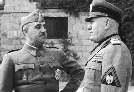 Franco con otro de sus aliados, el fascista Musolini