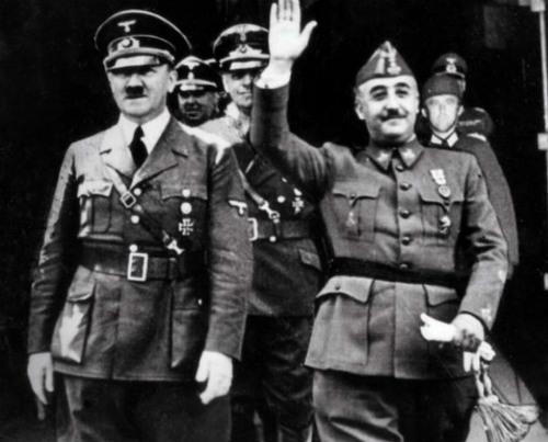 Franco y su aliado el genocida Adolf Hitler