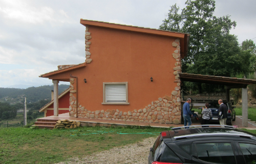 La casa de la familia del músico en Ponteareas