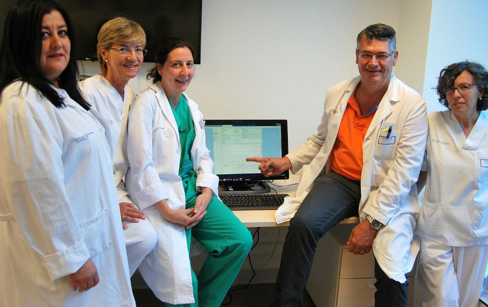 equipo da Unidade de arritmias que realiza o seguimiento dos dispositivos cardiacos