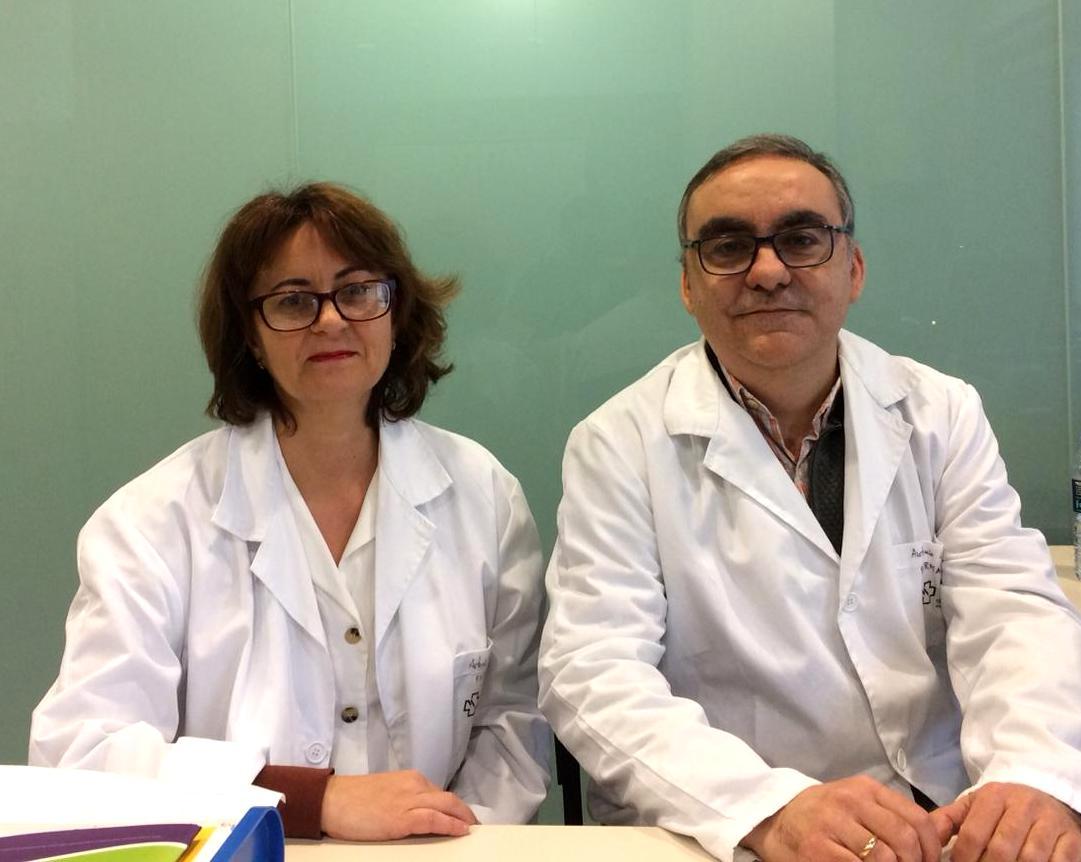 Beatriz Martínez, da EOXI de Santiago, e Antonio Carrera, da área sanitaria de Vigo