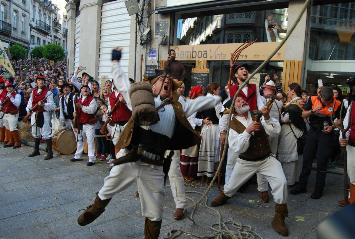 Representación de la Reconquista de Vigo