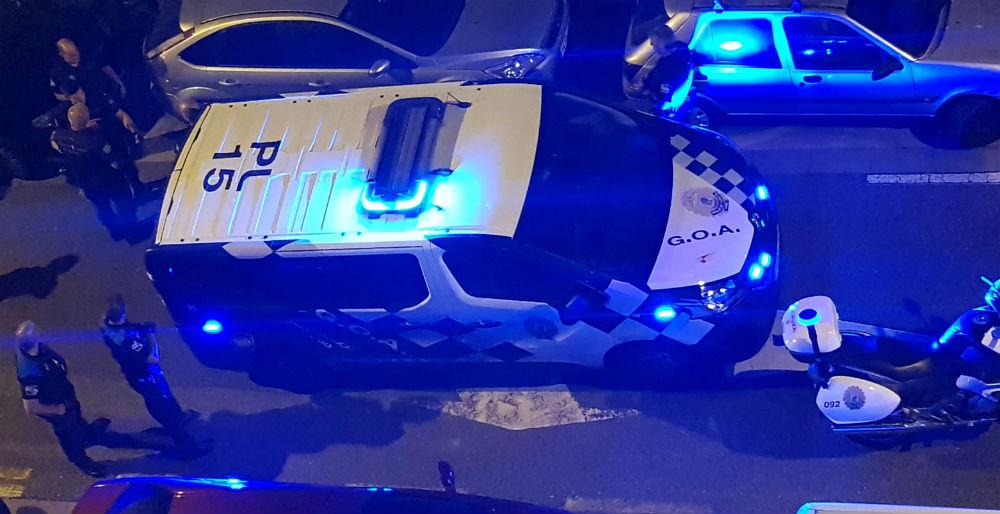 Detenidos de madrugada durante un botellón Vigo tras agredir a la policía