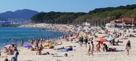 Playa de Samil mayo 2020
