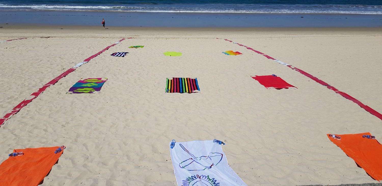 Cuadrícula Playa Samil Vigo
