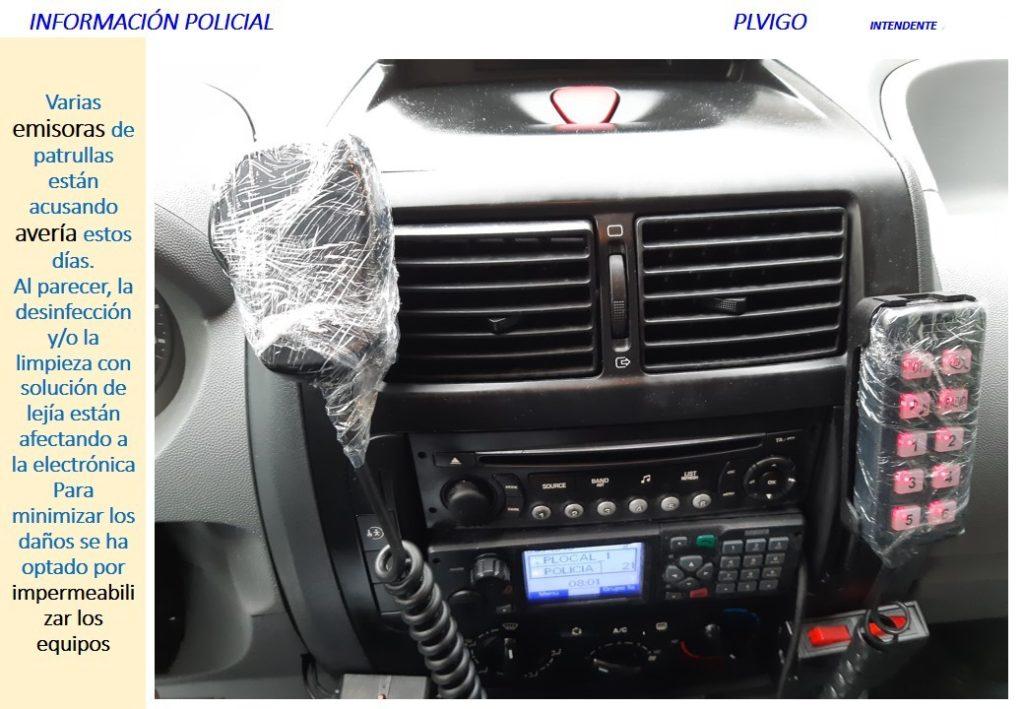 Interior coche Policía Local Vigo