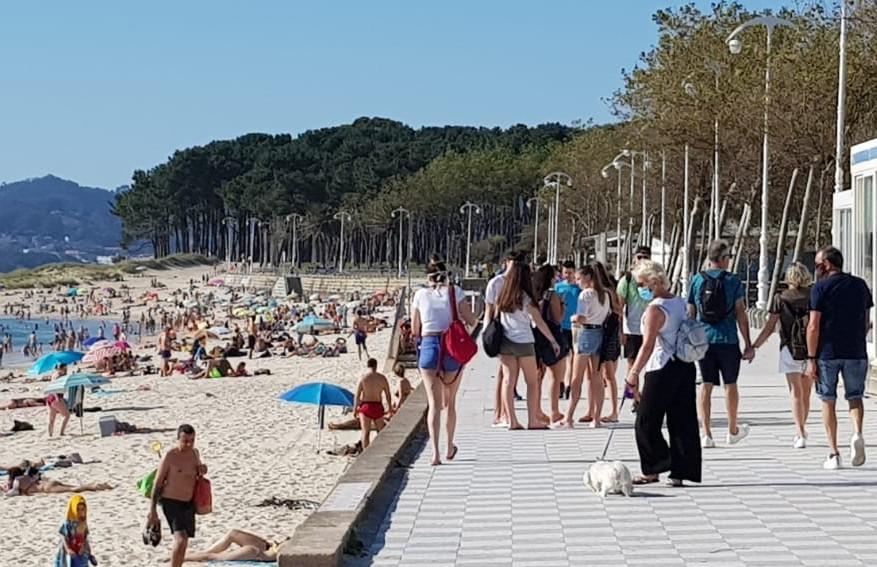 Playa de Samil Vigo distancia social
