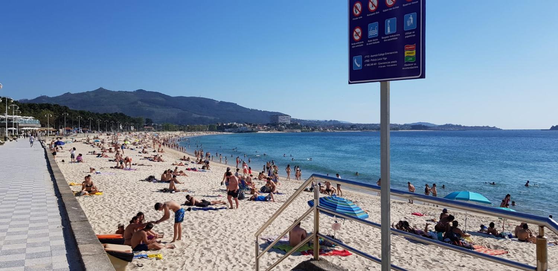 Playa de Samil Vigo verano 2020