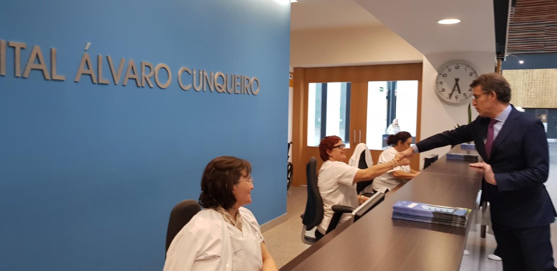 Feijóo en el Hospital Álvaro Cunqueiro Vigo