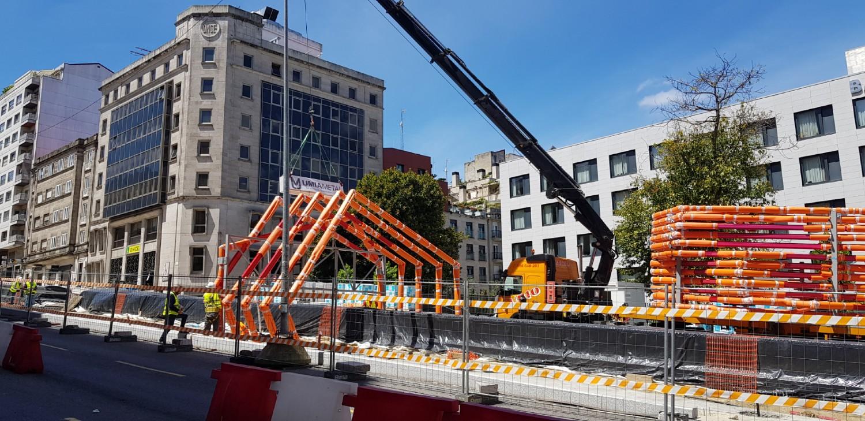Pórticos Rampas móviles Gran Vía Vigo