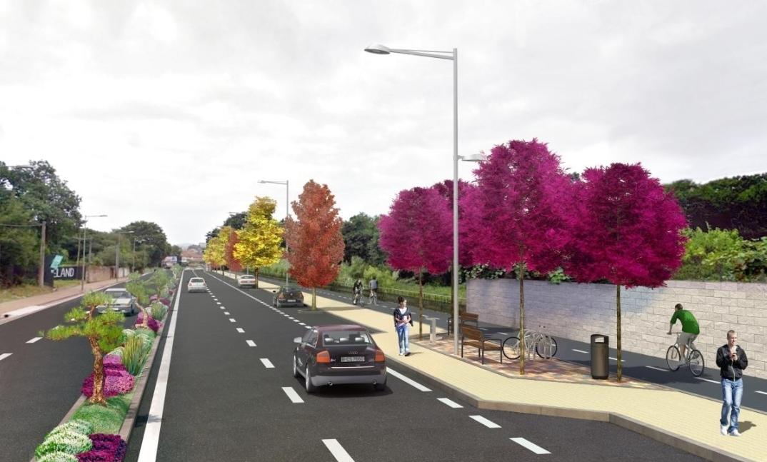 Imagen virtual de la nueva Avenida de Samil
