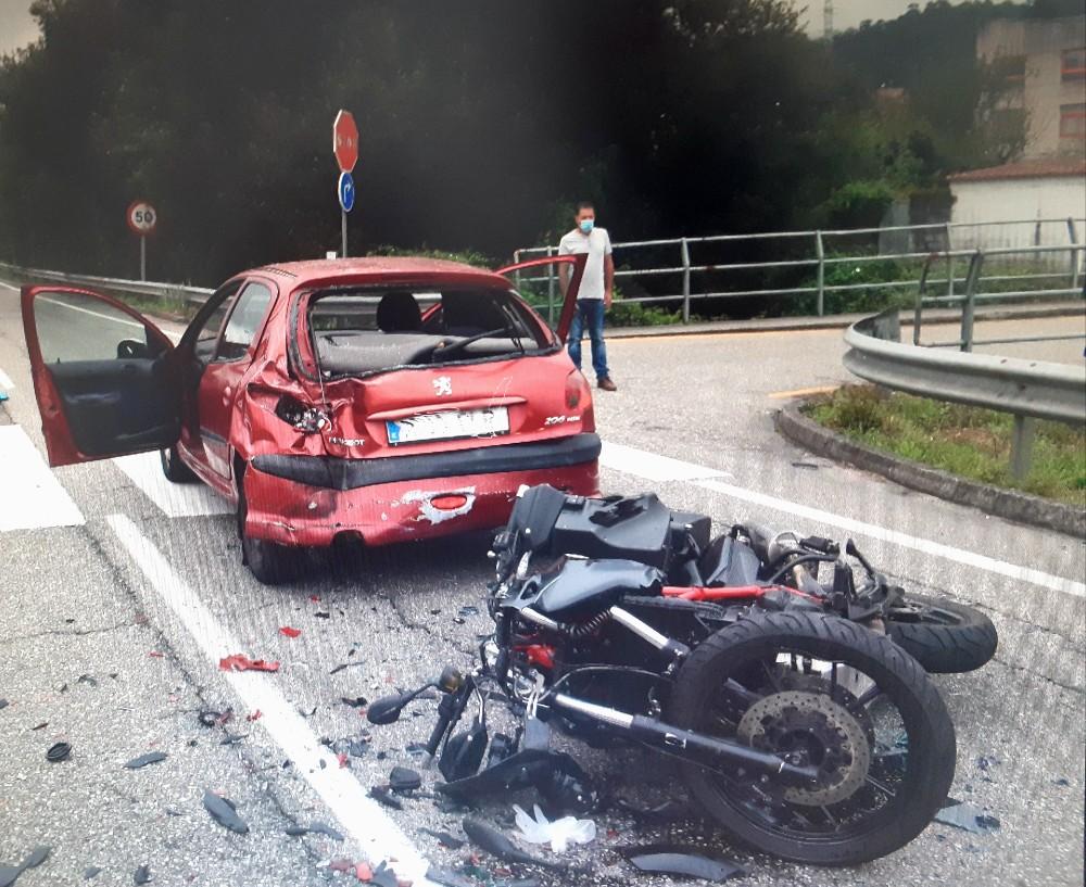 Accidente cerca Cunqueiro