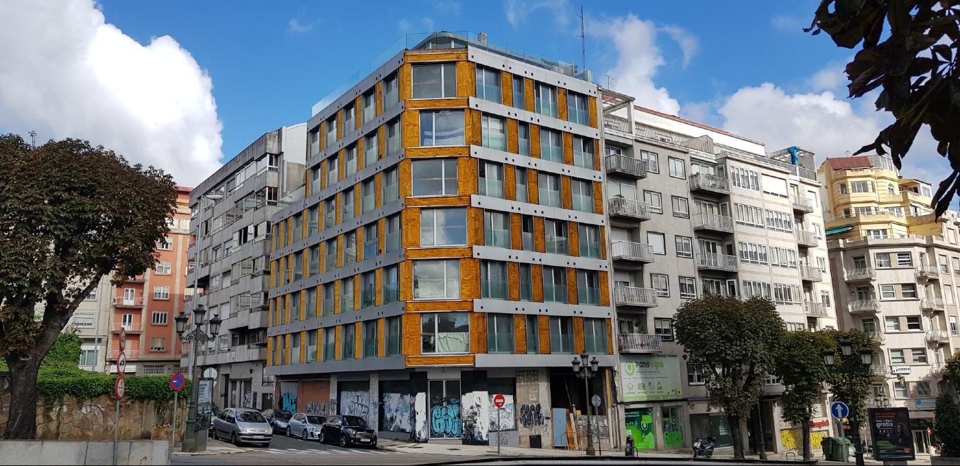 Edifico okupado en Gran Vía Vigo