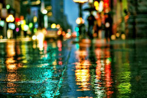 Lloviendo en Vigo