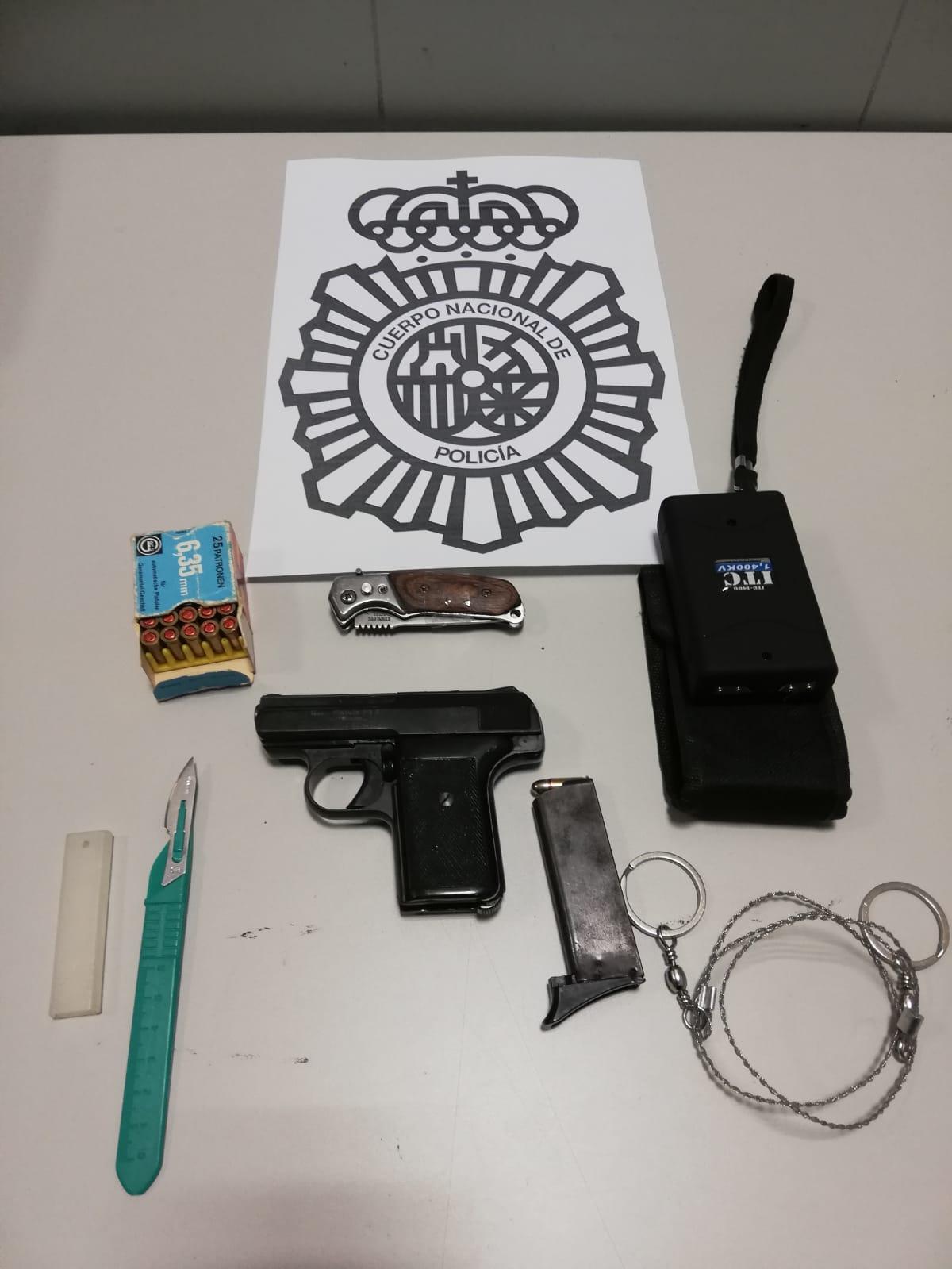 Detenido en Vigo por tenencia ilícita de armas y explosivos