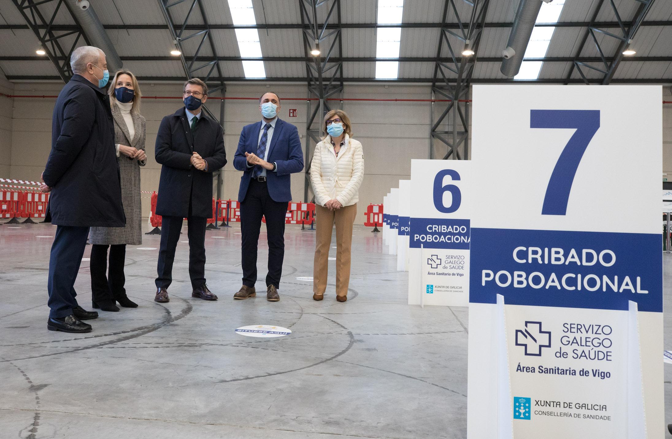 Feijóo en IFEVi polos cribados feitos en Vigo
