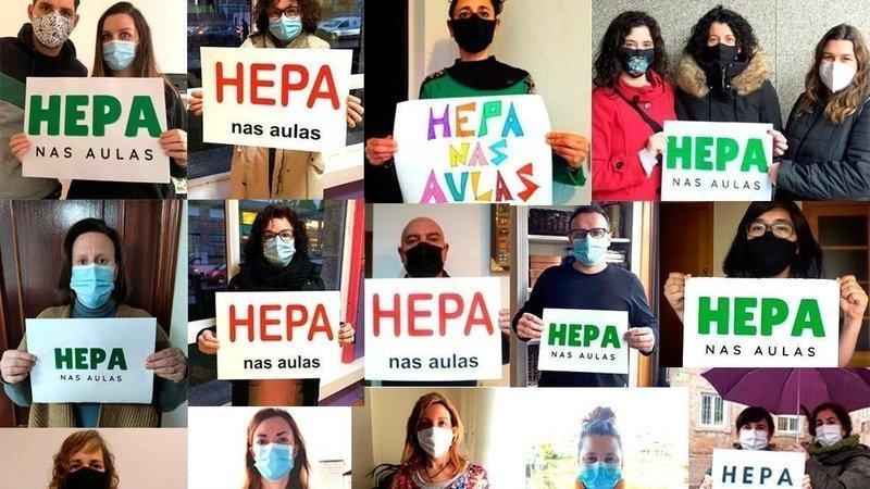 Plataforma HEPA nas aulas Galicia