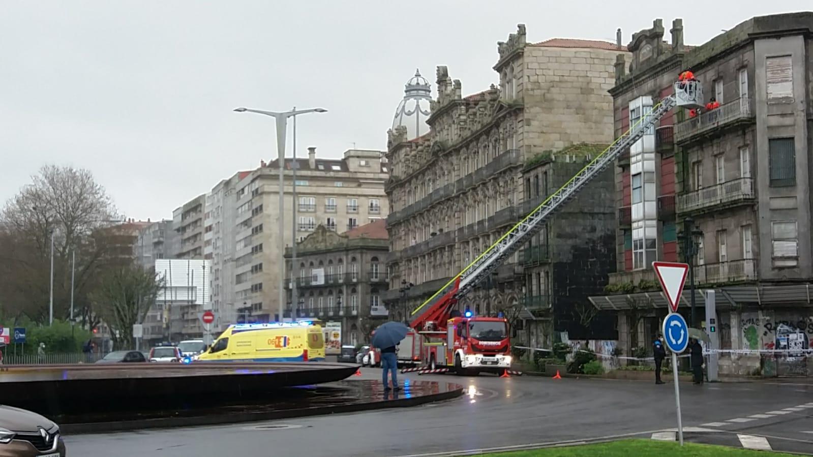 Edificio que se ha derrumbado en Areal
