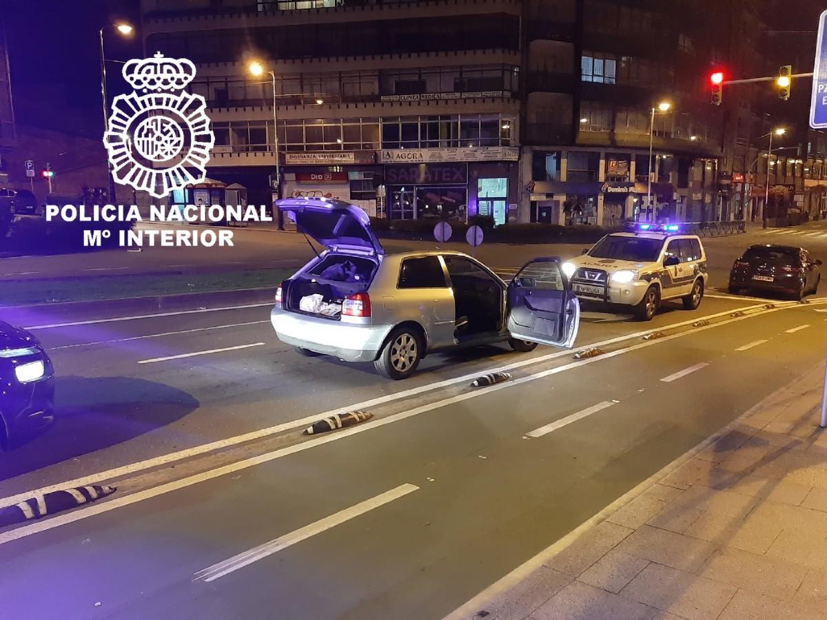 Persecución alta velocidad Vigo cuadriplicando tasa alcohol