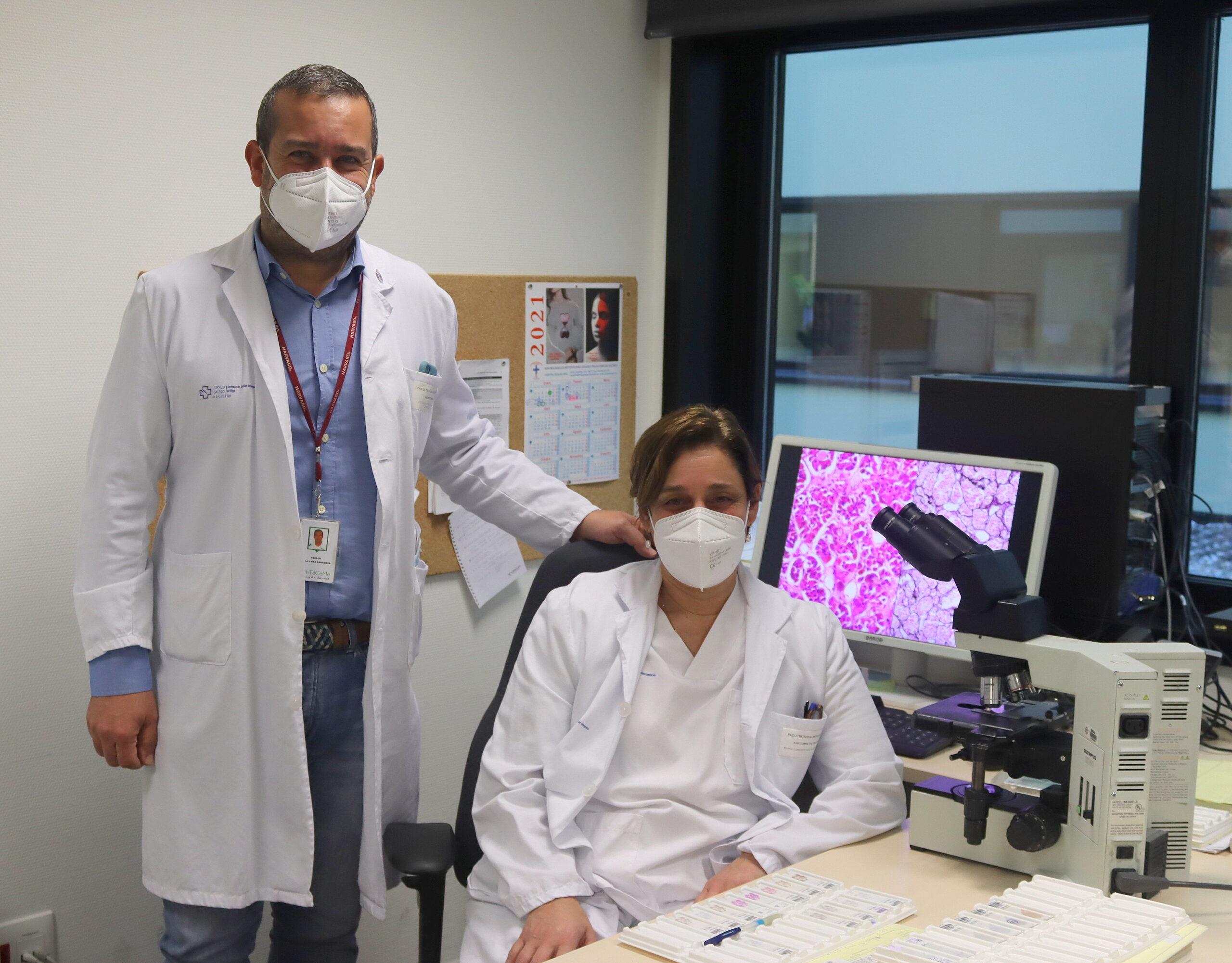 O neurocirurxián Adolfo de la Lama e a neuropatóloga, Concepción Fiaño