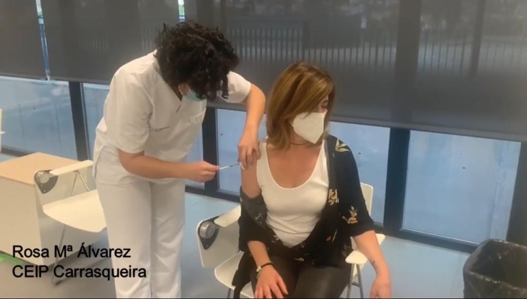 Empieza en Vigo la vacunación de docentes frente al COVID