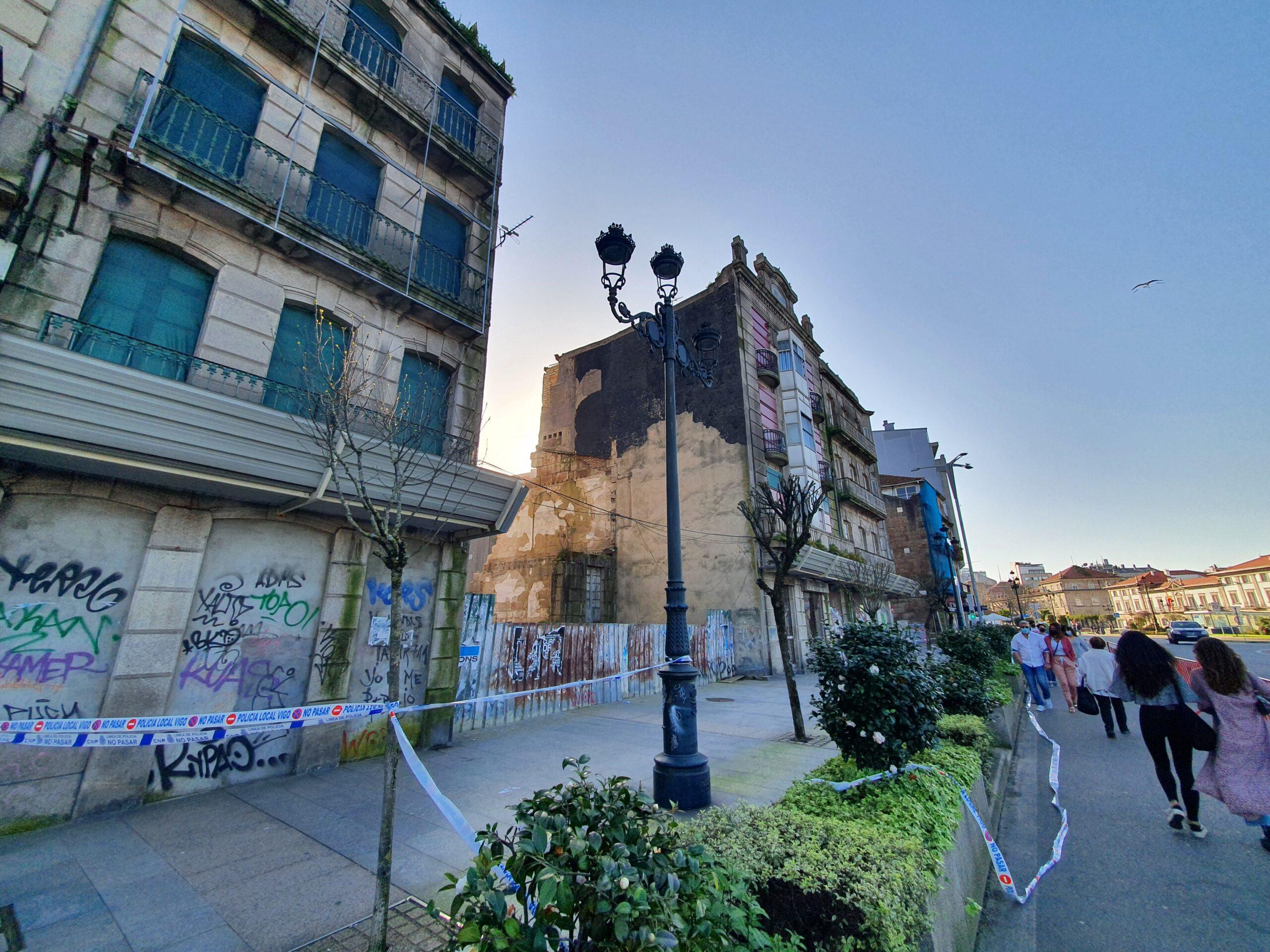 Edificio ruinoso en Vigo