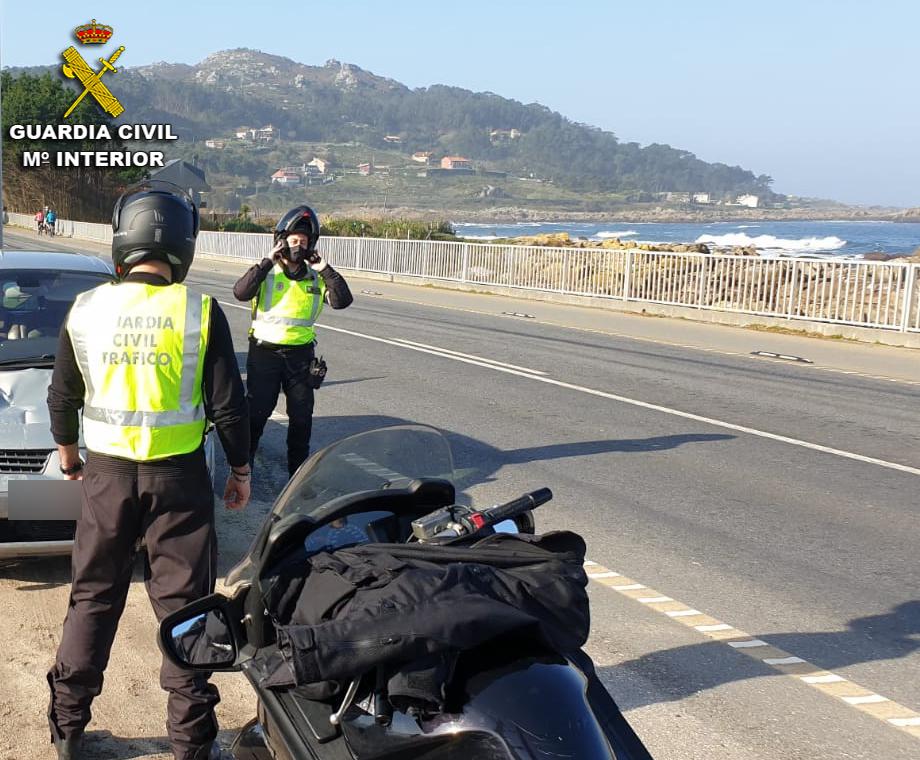 Guardia Civil Pontevedra desplazamientos en moto