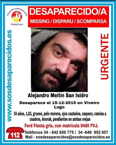 El joven desaparecido en Viveiro en 2019