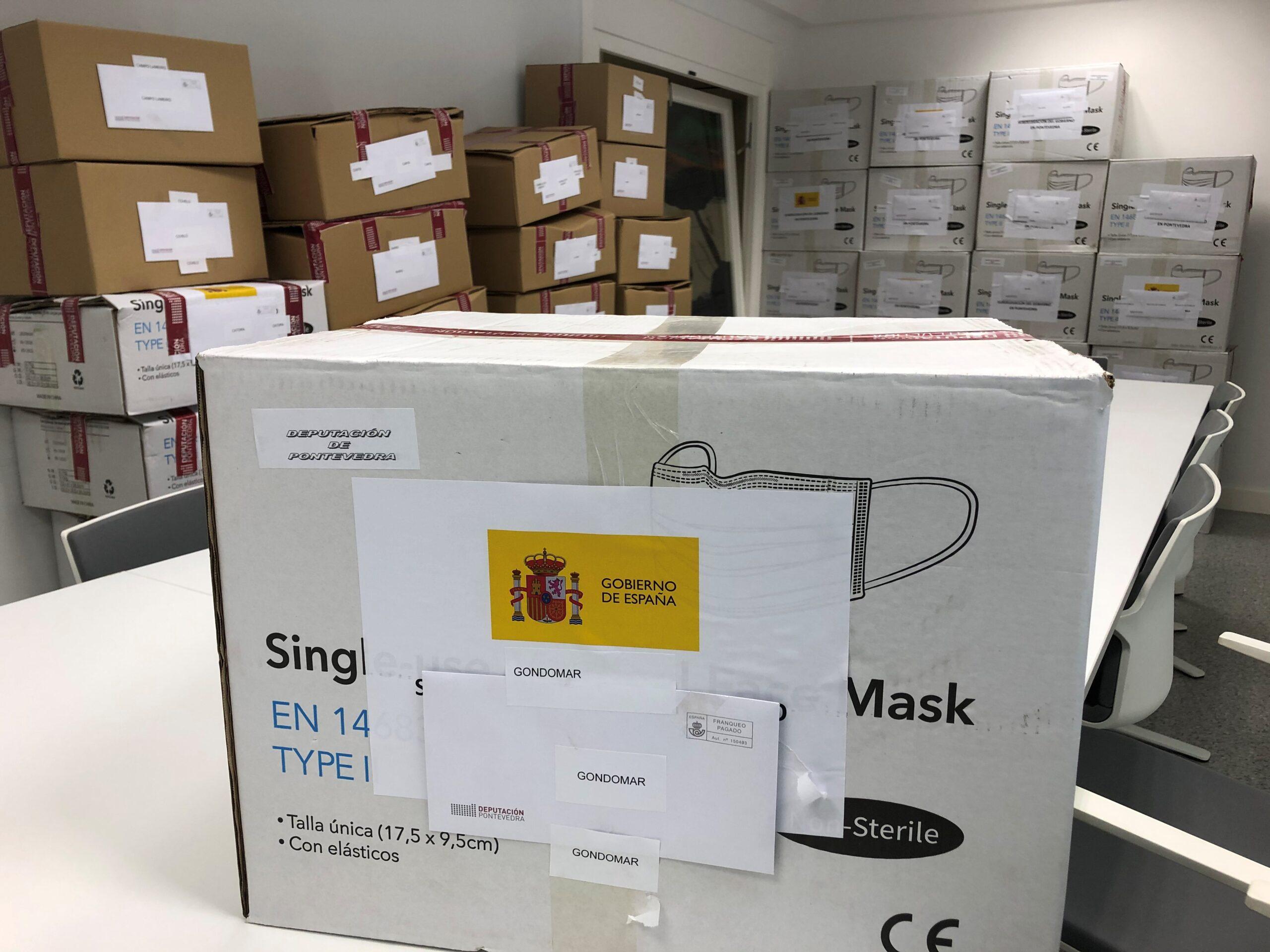 Máscaras Diputación Pontevedra