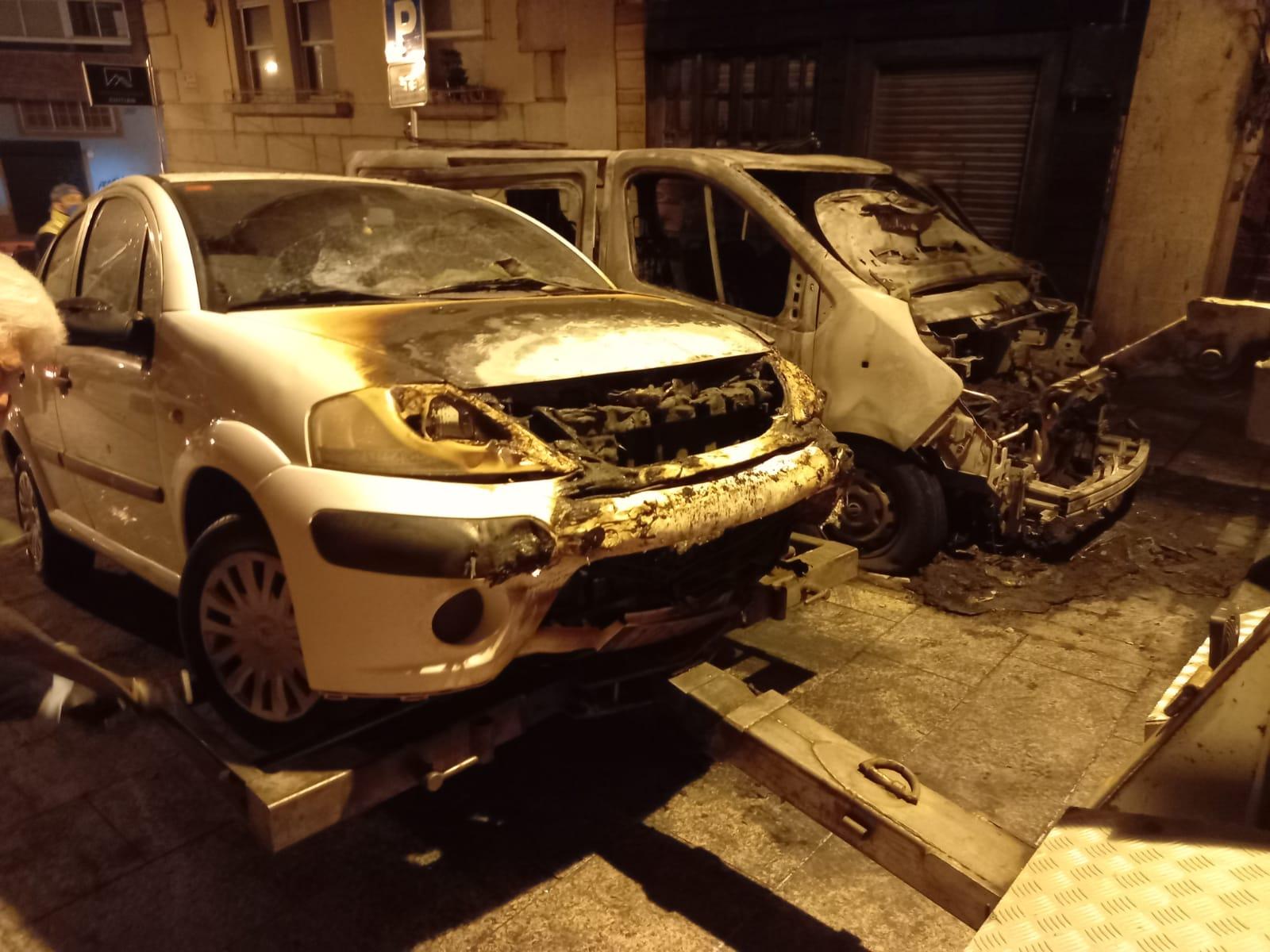 Furgoneta quemada Vigo