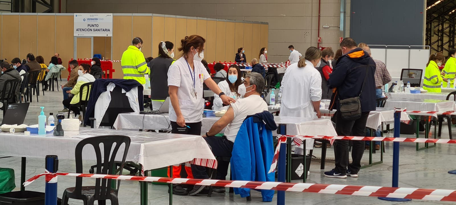 Vacunación con Astrazeneca en Vigo