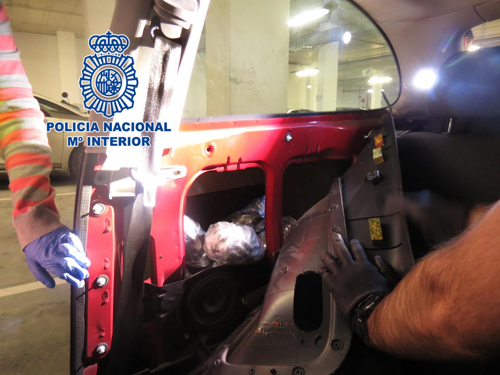 La droga encontrada en Vigo es escondía en un coche