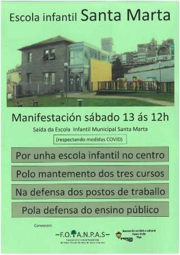 Manifestación Santa Marta Vigo