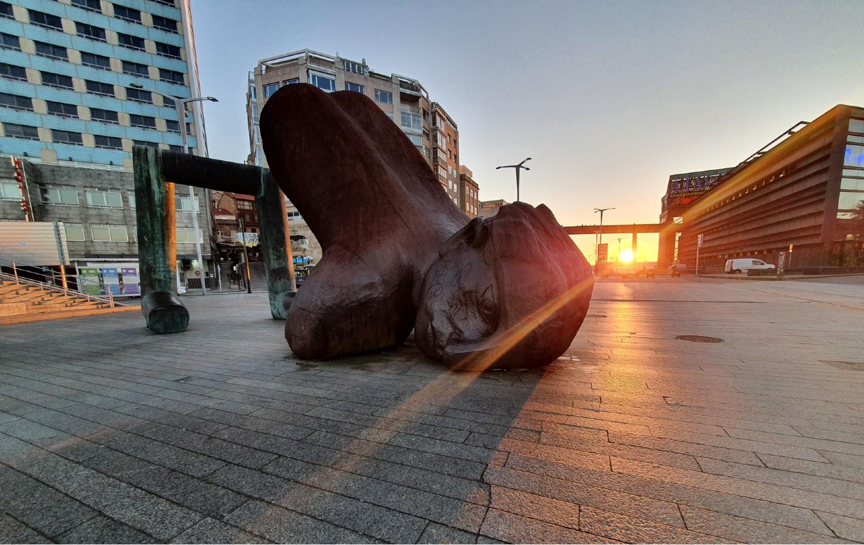 Escultura Nadador Vigo