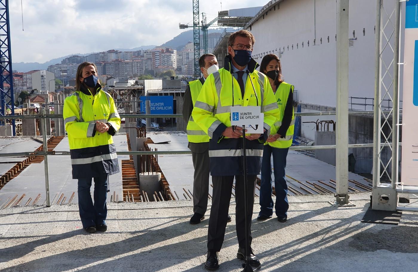 Feijóo en las obras de la nueva estación de autobuses de Vigo/vigoalminuto