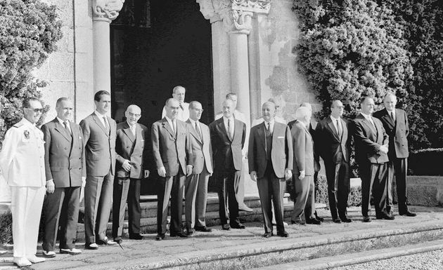 EL dictador con su Gobierno en Meirás