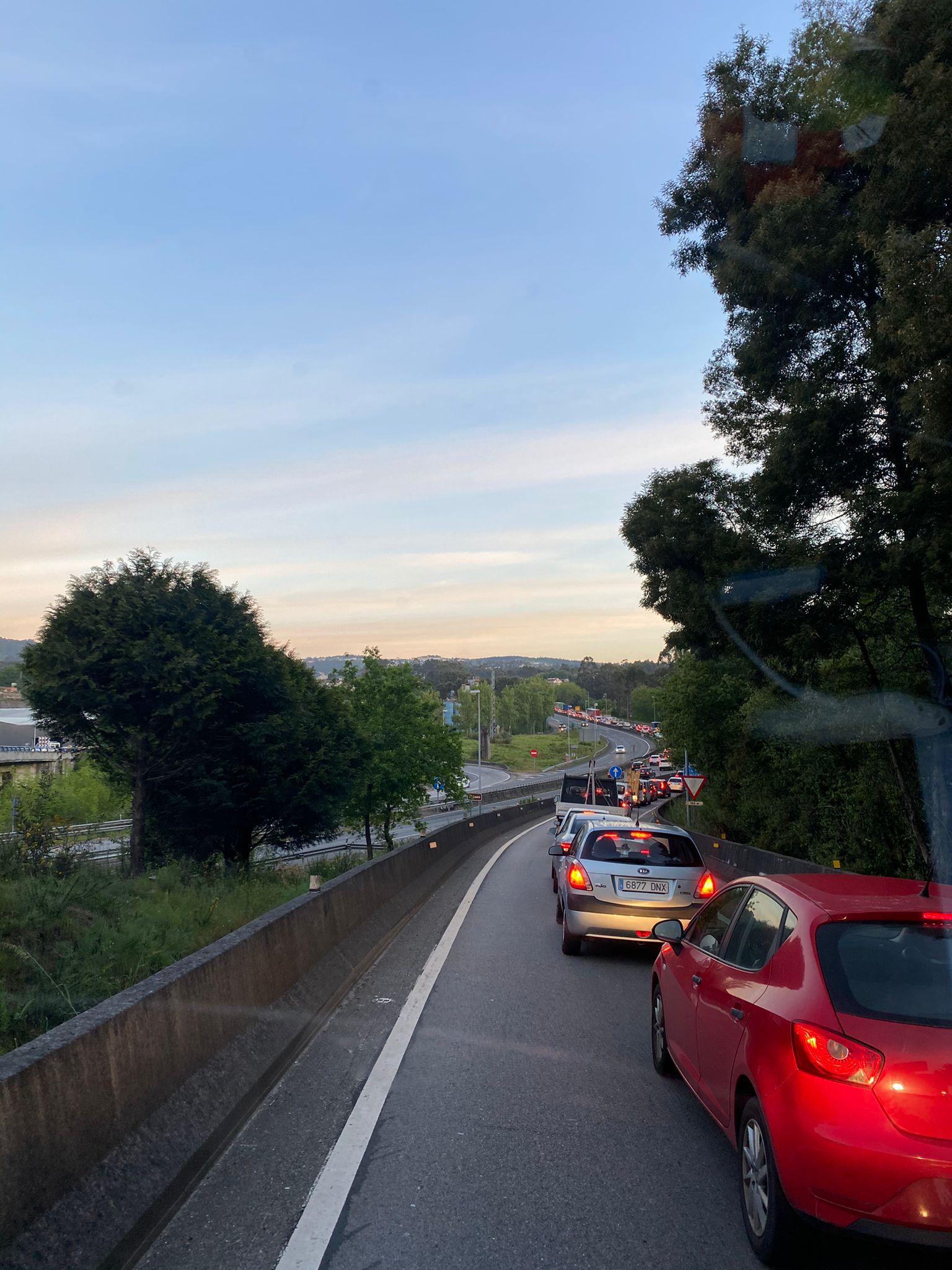 Accidnete en la Autovía A-55 Vigo-Porriño