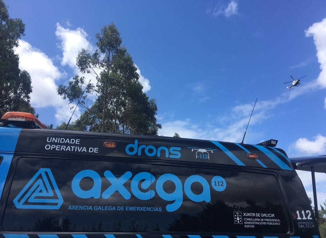Buscan con drons a un home de 93 anos