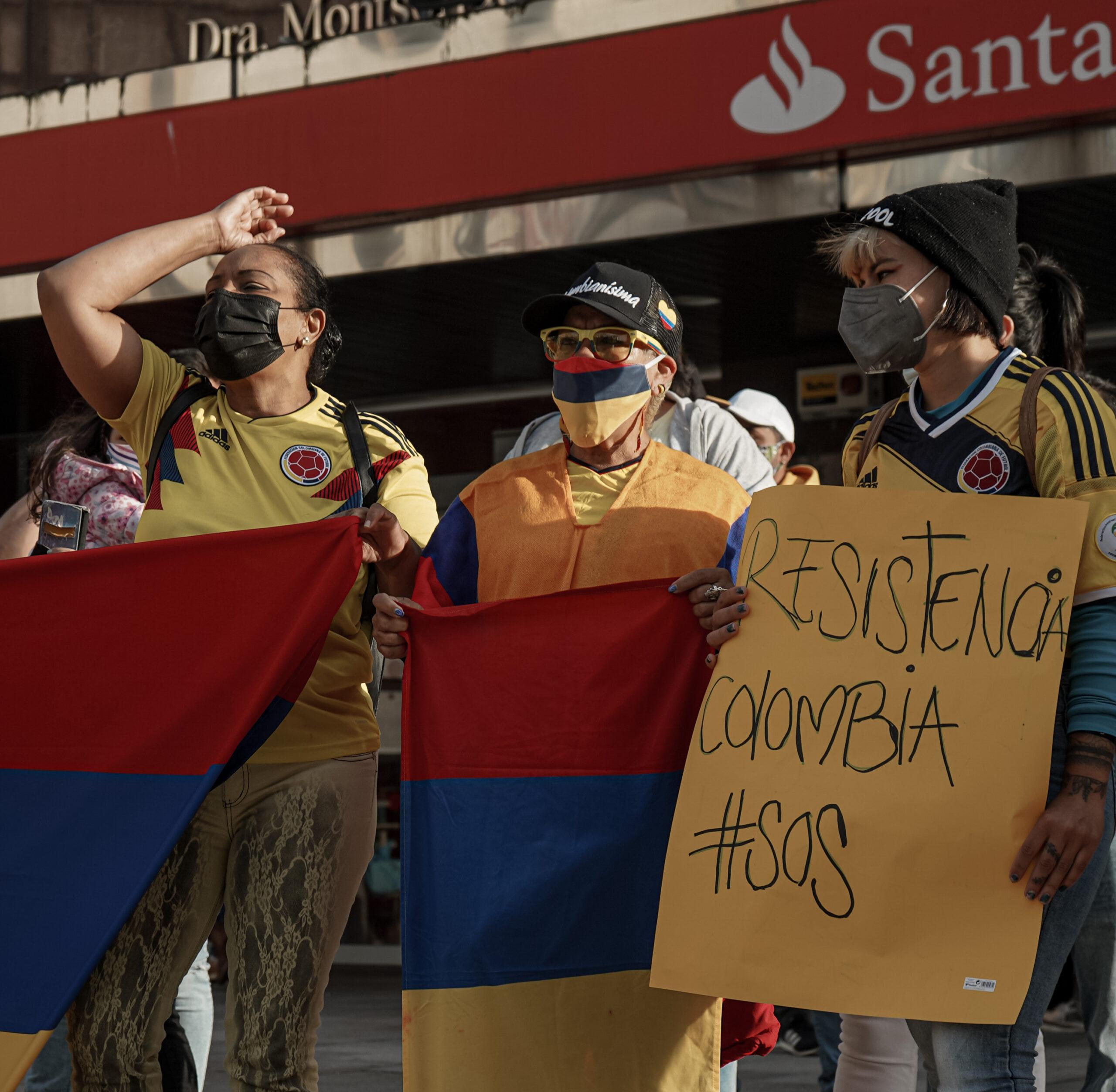 Vigo: manifestación de apoyo al pueblo colombiano